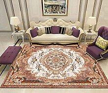 Anbai Design Tappeto Moderno Arancio Rosso