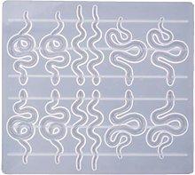 Angelliu Silicone Stampo Orecchini Serpente,