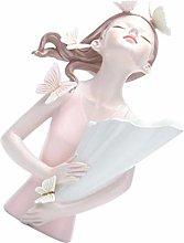 Angoily Bolla di Resina Ragazza Figurine Statue di