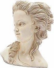 Angoily Testa di Statua in Resina Vaso della