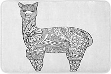 Animal Alpaca Zentangle Per Libro da Colorare