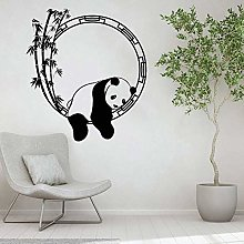 Animale Divertente Adesivo Panda Bambù
