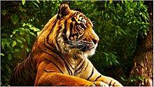 Animale Tigre Puzzle In Legno 98 Pezzi Sfida