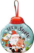 AniYY - Scatola di latta natalizia con ciondolo a