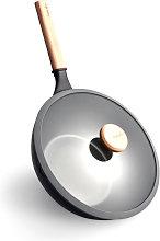 Antiaderente Wok Padella Fritto Cucina Pentola Per
