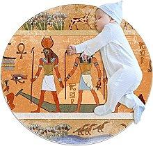 Antico Egitto Dei Faraoni Zerbino Rotondo Lavabile