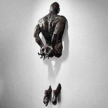 Antico Uomo Frammentato Scultura Da Parete,Moderno