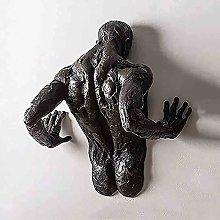Antico Uomo Frammentato Scultura Da Parete,Resina
