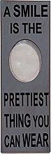 Antikas - Cornice in legno, ovale, scritta,