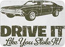 AoLismini Tappeto da Bagno Classic 1969 Chevelle