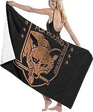 AOOEDM Asciugamano da bagno,80X130Cm Foxhound