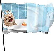 AOOEDM Bandiera da bagno per gatti Bandiera da