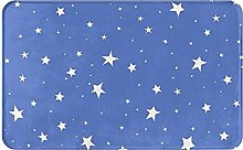 AOOEDM BlueStars - Tappetino da bagno in memory