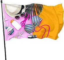 AOOEDM Costume da bagno Bikini Flag Banner Flags
