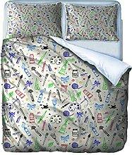 AOUAURO Set Copripiumino 240x220 Dentista Stampa