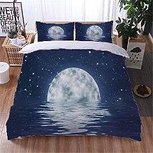 AOUAURO Set Copripiumino 240x220 Luna Mare Stampa