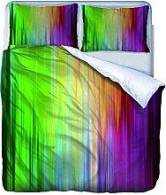 AOUAURO Set Copripiumino 240x220 Strisce di Colore