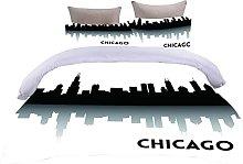 AOUAURO Set Copripiumino Singolo Bella Chicago