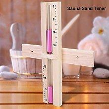 Aoutecen Vetro Timer Sauna Sand Clock Sabbie Rosa