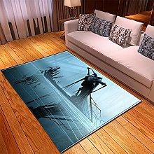 appeto cartone blu tappeto salotto moderno faux