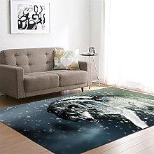 appeto Lupo grigio tappeto salotto moderno faux