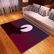 appeto Lupo Luna tappeto salotto moderno faux