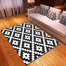 appeto Nero bianco tappeto salotto moderno faux