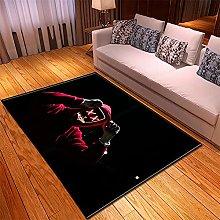 appeto Nero rosso tappeto salotto moderno faux