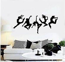 Applicazione a parete Studio di danza Silhouette