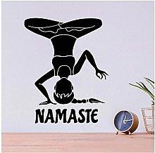 Applique Adesivo Murale Poster PVC Yoga Vinyl Wall