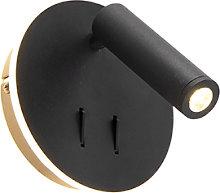 Applique design nero LED - MARIO