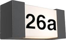 Applique esterno antracite numero civico IP54 -