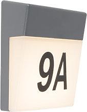 Applique esterno grigia LED numero civico IP54 -