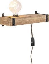 Applique industriale in legno USB - REENA
