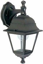 Applique lampada da parete E27 colore nero da