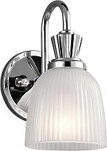 Applique LED da bagno Cora con vetro, 1 luce