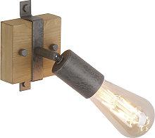 Applique legno acciaio orientabile - MARIS