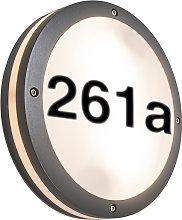 Applique/plafoniera antracite numero civico IP54 -