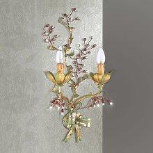 Applique Viticcio con decorazioni floreali