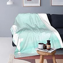 Aqua Green Basics Coperta in peluche fuzzy Coperta