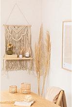 Arazzo con mensola a muro in cotone Beep Natural