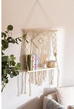 Arazzo con mensola a muro in cotone Luad Natural
