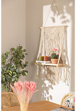 Arazzo in cotone con mensola a muro Atena Natural