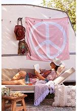 Arazzo in cotone Peace & Love Zucchero Filato Rosa