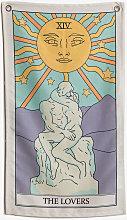 Arazzo murale Tarot Poliestere - The lovers - Sklum