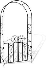 Arco con porta da giardino per piante rampicanti
