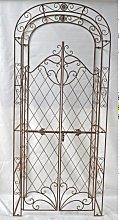 Arco romantico con cancelletto CP394 ferro bianco