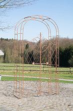 Arco romantico con cancelletto CP394 ferro marrone