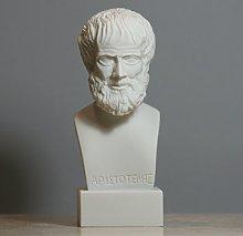 Aristotele greco filosofo scienziato alabastro