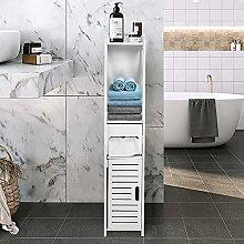 Armadietto a colonna per bagno, mensola doccia,